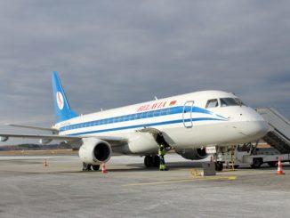 Belavia Economy Class Embraer 175 Riga-Minsk aircraft