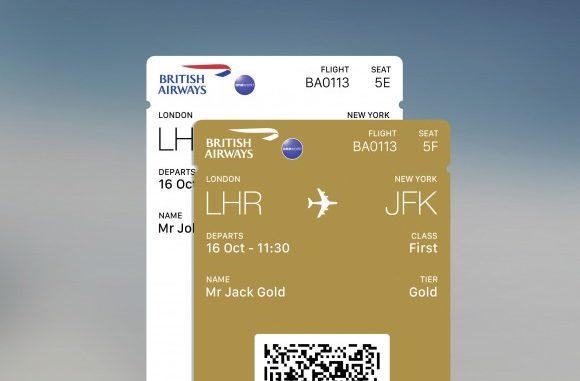British Airways app multiple boarding passes