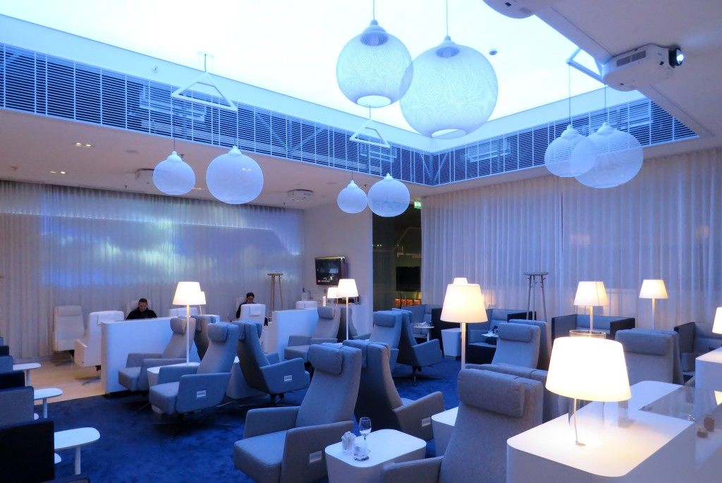 Finnair Economy Class Helsinki-Stockholm lounge