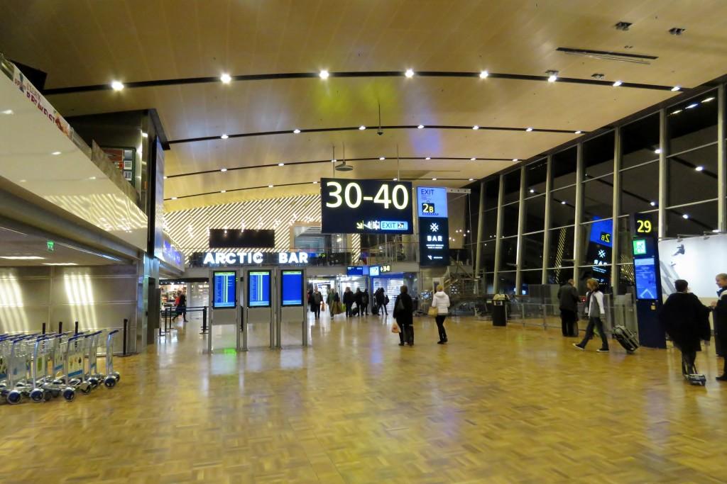 Finnair Economy Class Helsinki-Stockholm transit hall