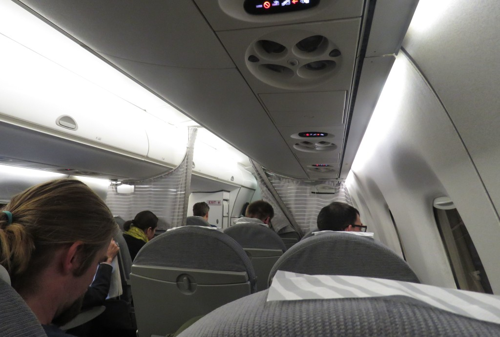 Finnair Economy Class Helsinki-Stockholm cabin