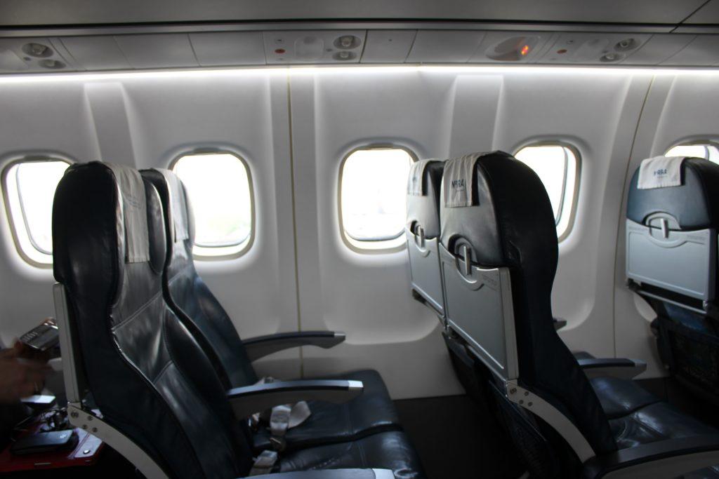 Finnair Norra Nordic Regional Airlines ATR-72 seats and cabin
