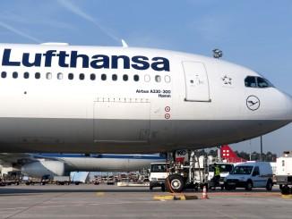 Lufthansa Airbus A330-300 with logo