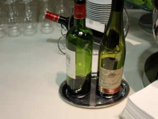 Lufthansa Senator wine in the Senator lounge