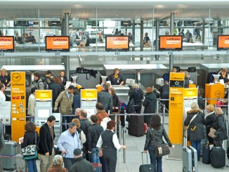 Lufthansa check-in area at Munich terminal 2