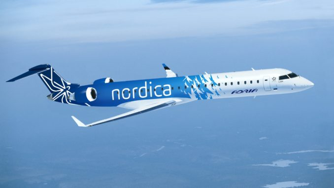 Nordica CRJ-700 with new livery