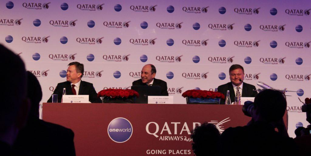 Qatar Airways CEO Akbar Al Baker at press conference in Berlin