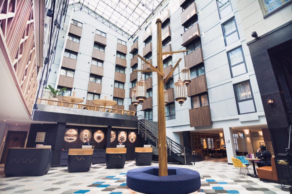 Radisson Blu Hotel Amsterdam interior after renovation