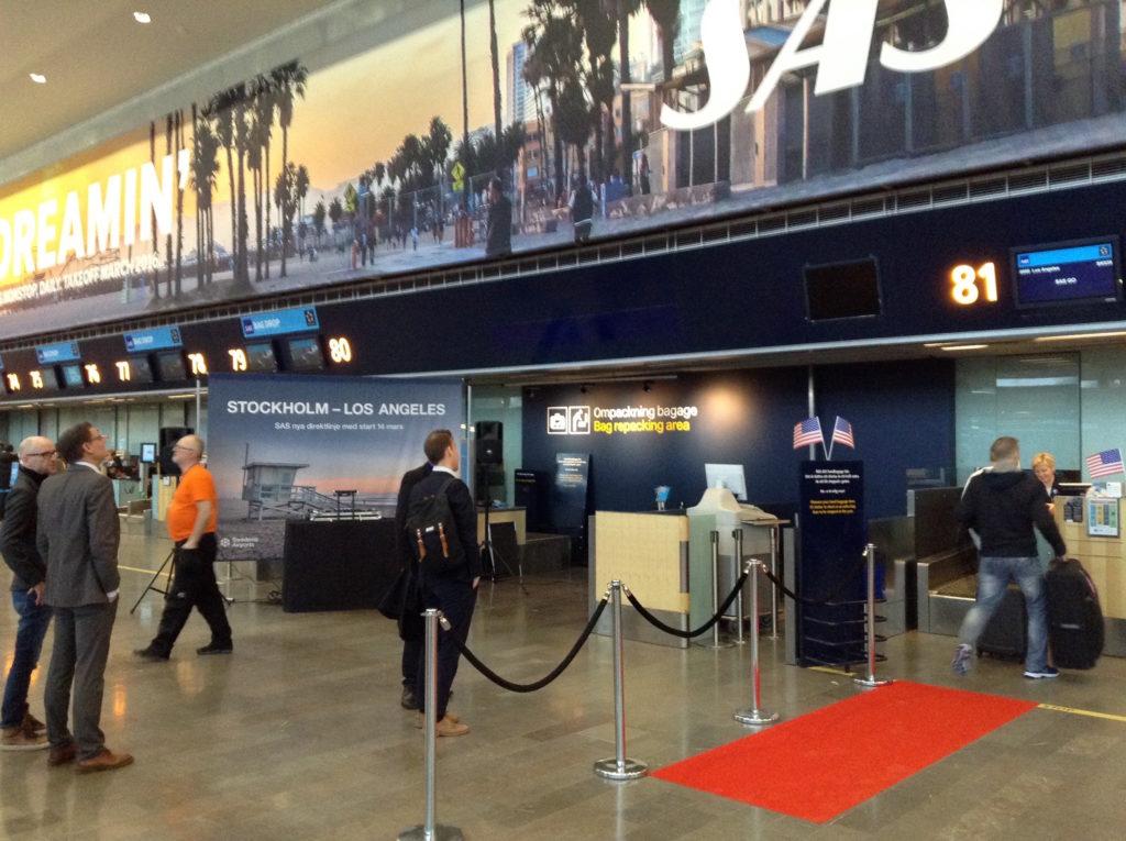 SAS inauguration Stockholm-Los Angeles