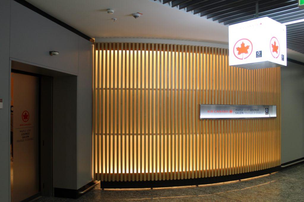 Air Canada Maple Leaf Lounge, Frankfurt entrance