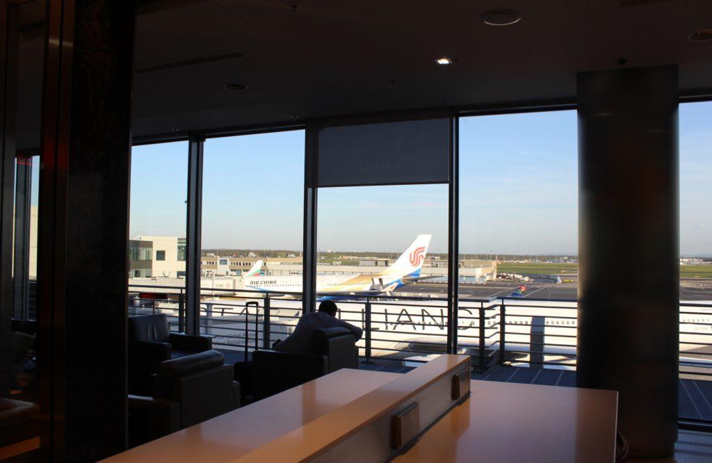 Air Canada Maple Leaf Lounge, Frankfurt apron view