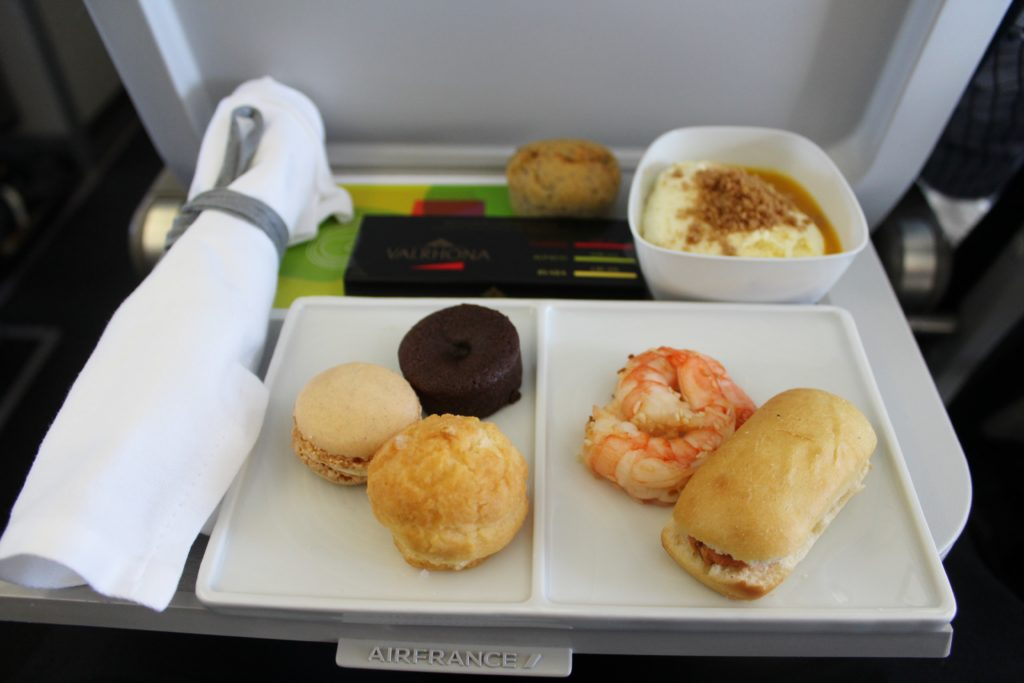 Air France Business Class Munich-Paris CDG evening snack