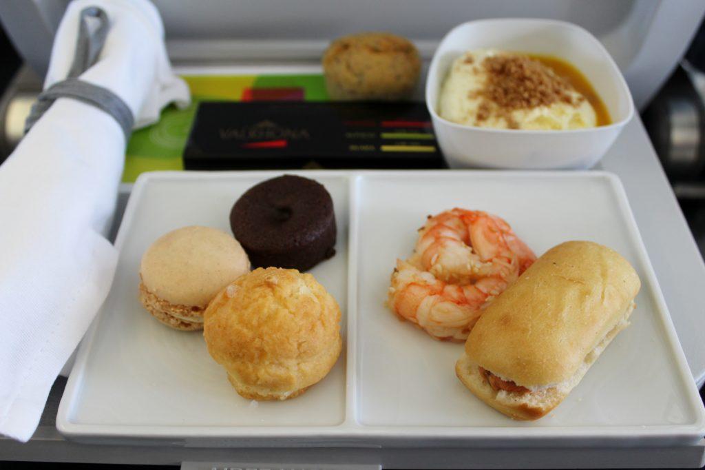 Air France Business Class Munich-Paris CDG meal