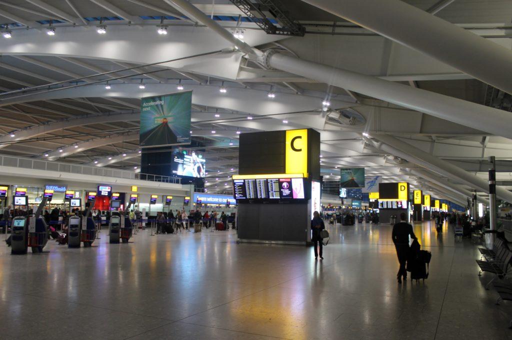 British Airways Business Class London-Munich transit hall