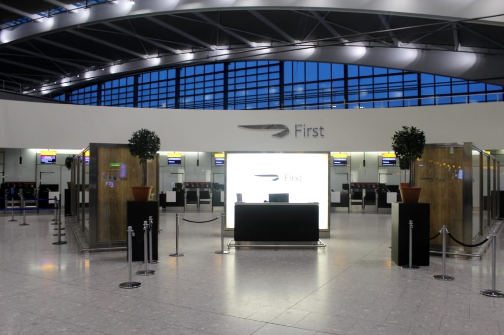 British Airways Business Class London-Munich first class check-in