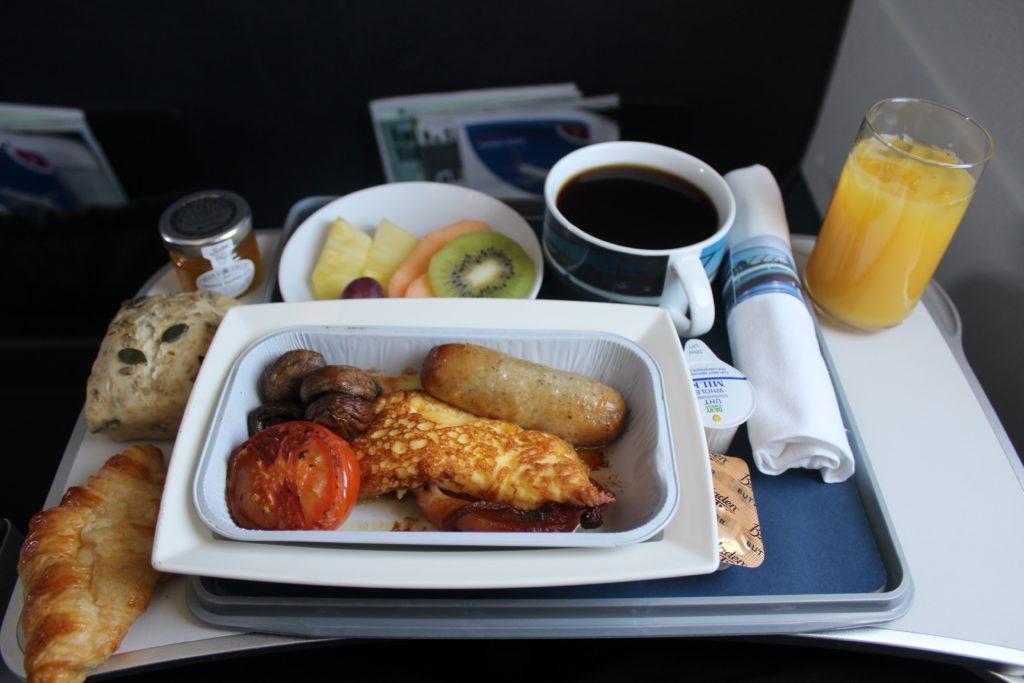 British Airways Business Class London-Munich breakfast