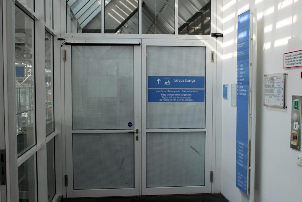 Europa Lounge, Munich, Terminal 1 entrance