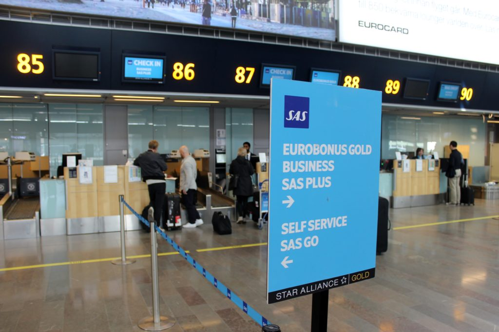 Lufthansa Business Class Stockholm-Frankfurt check-in