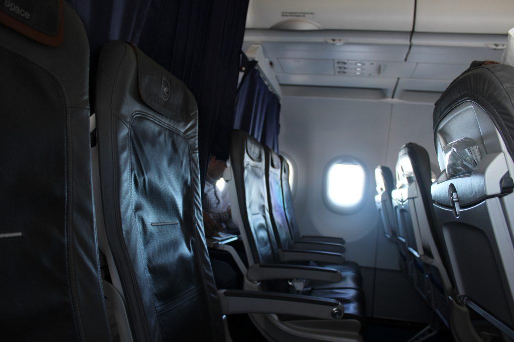 Lufthansa Business Class Stockholm-Frankfurt seat