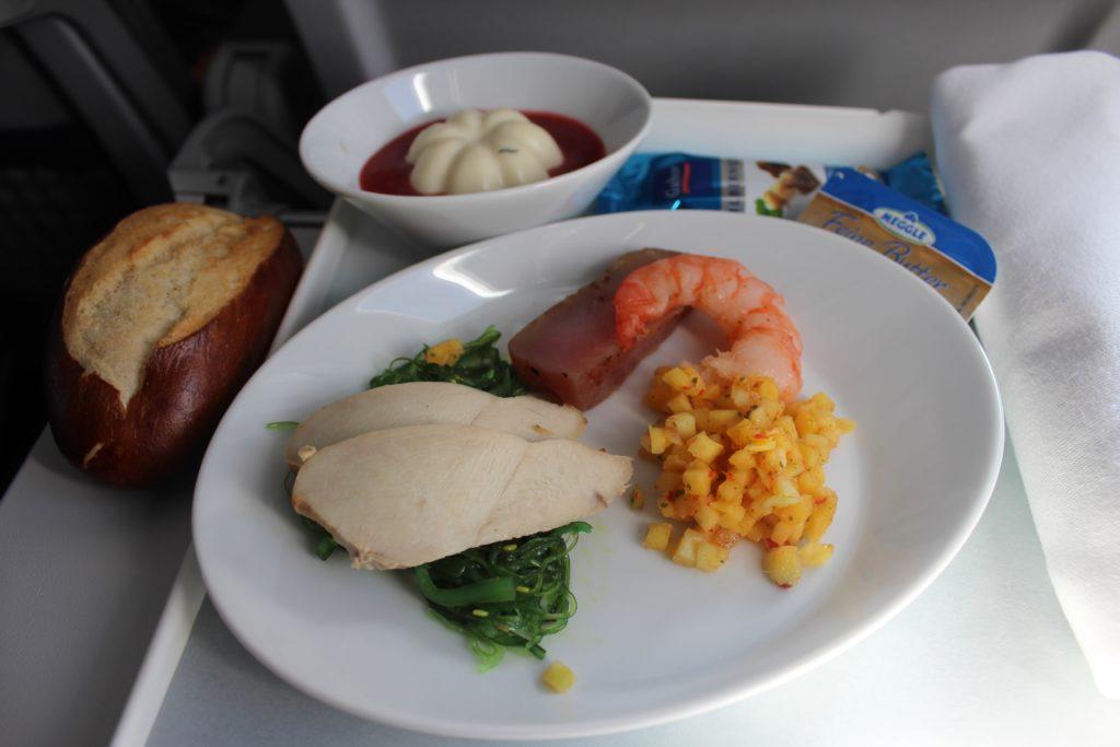 Lufthansa Business Class Stockholm-Frankfurt meal