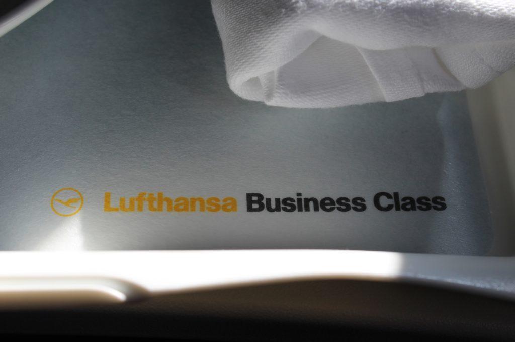 Lufthansa Business Class Stockholm-Frankfurt tray