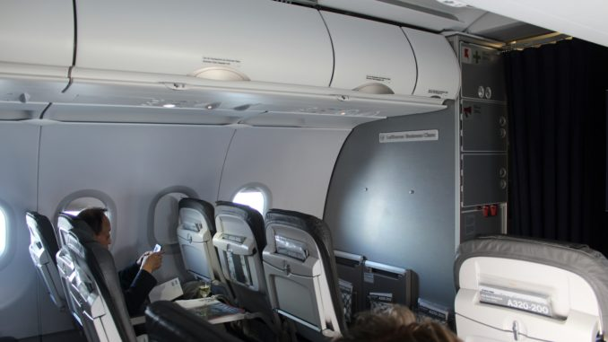 Lufthansa Business Class Stockholm-Frankfurt cabin