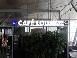SAS Cafe Lounge, Trondheim Vaernes lounge sign