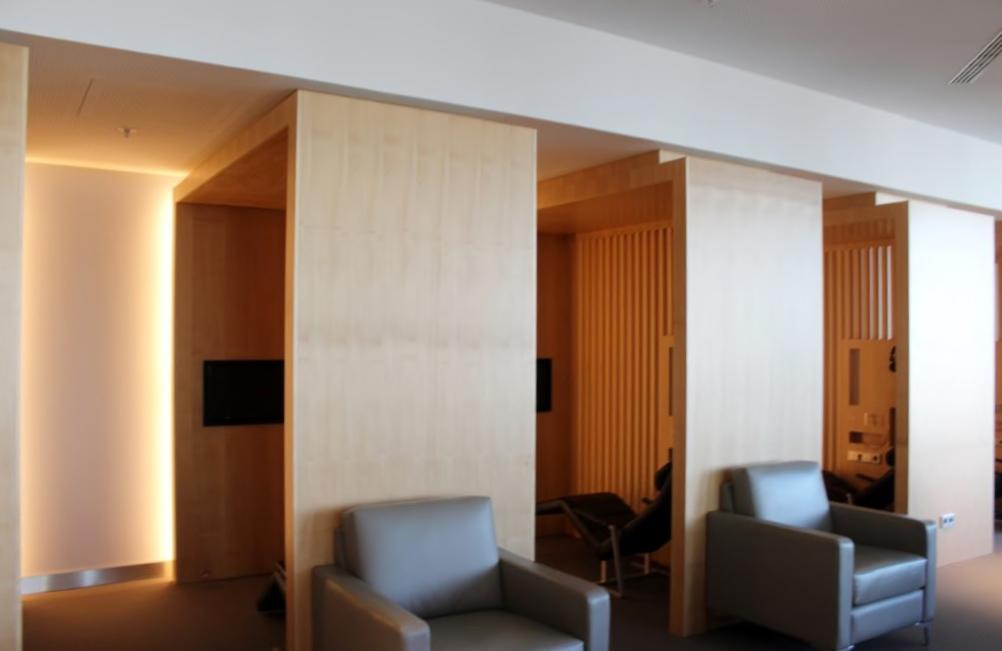 anada Maple Leaf Lounge, Frankfurt relaxation area