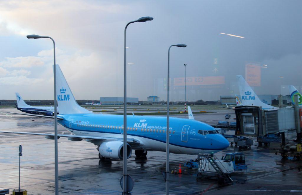 KLM Business Class Amsterdam-Paris apron