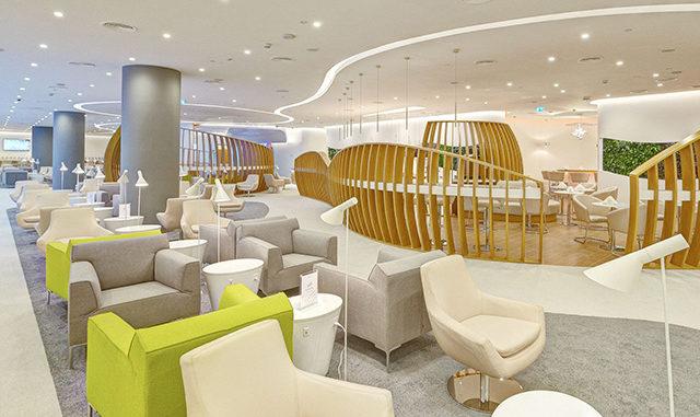Skyteam Lounge, Dubai interior and seating aras