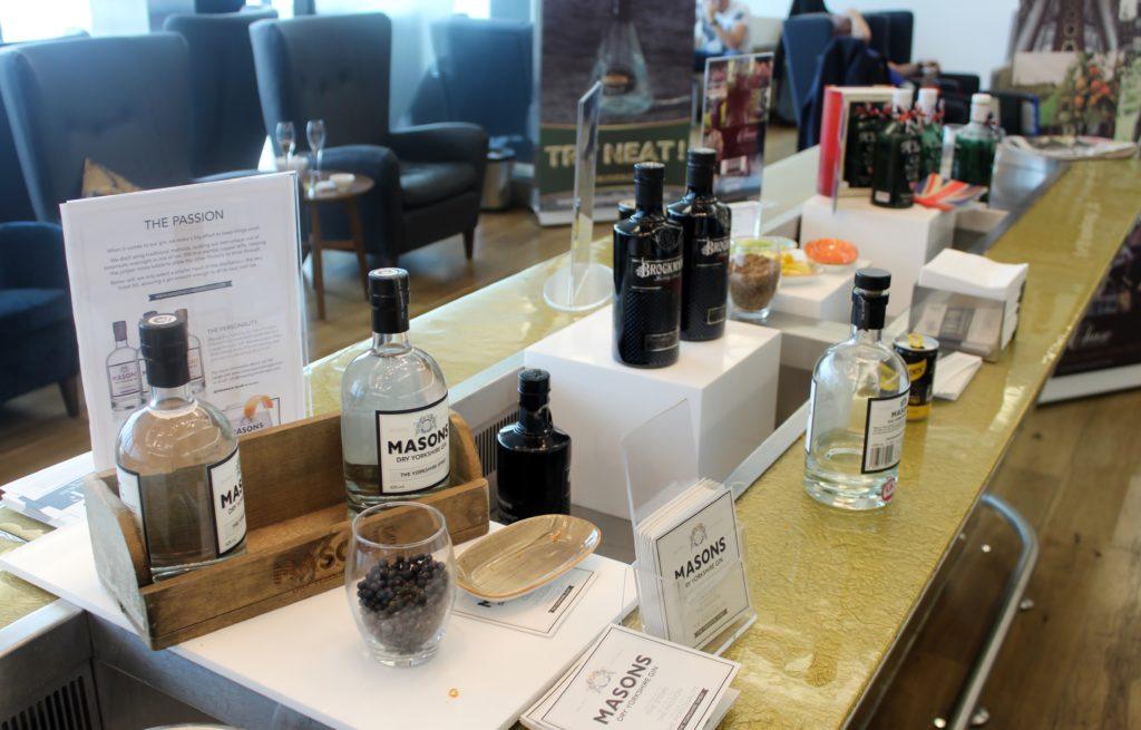 Gin festival in British Airways Galleries First Lounge at London Heathrow