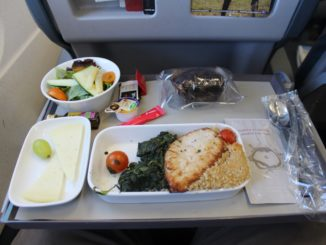 Iberia Business Class Madrid-Lisbon dinner