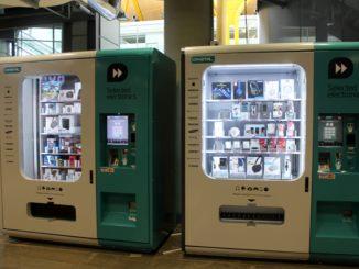 Electronics vending machines at Madrid Barajas airport