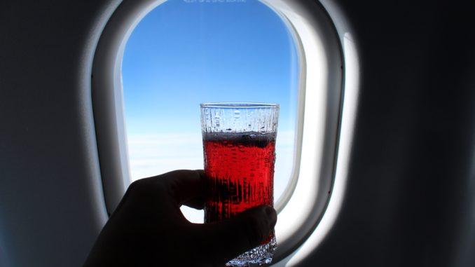 Finnair Blue Sky cocktail