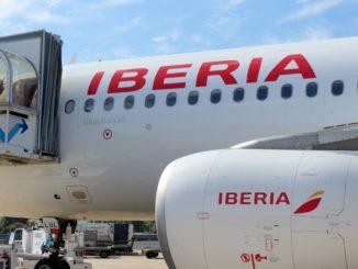 Iberia Business Class Lisbon-Madrid Airbus A320