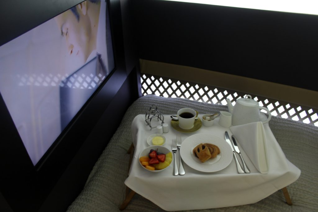 Inside Etihad The Residence TV in bedroom