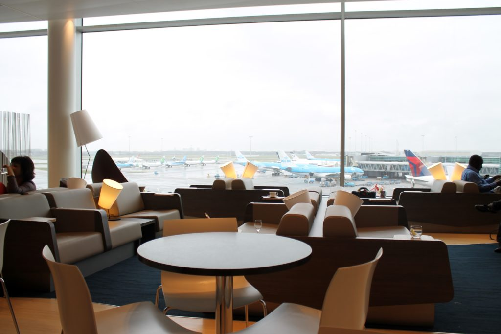 Inside the new Aspire Lounge at Amsterdam Schiphol