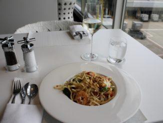 Lunch in the Qatar Airways Premium Lounge at London Heathrow Terminal 4