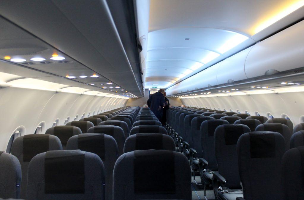 Mood lighting on SAS Airbus A320NEO