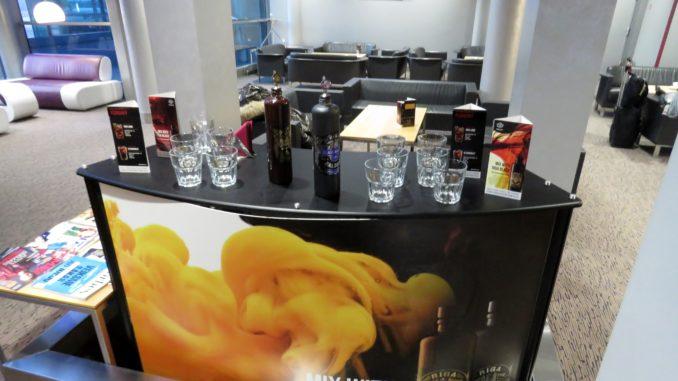 Riga Balzams in the Primeclass Business Lounge in Riga