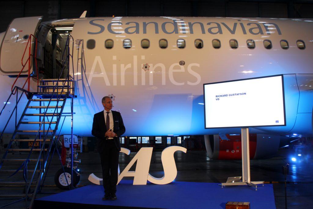 SAS inauguration Airbus A320NEO Richard Gustafsson