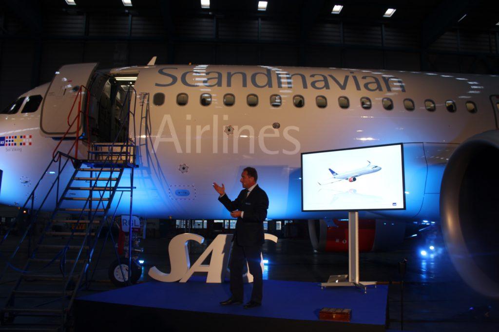 SAS inauguration Airbus A320NEO Lars Sandahl Sørensen