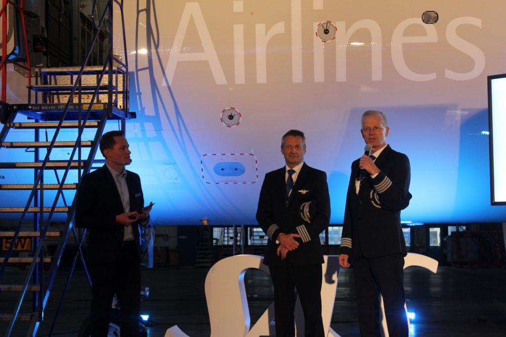 SAS inauguration Airbus A320NEO test pilots
