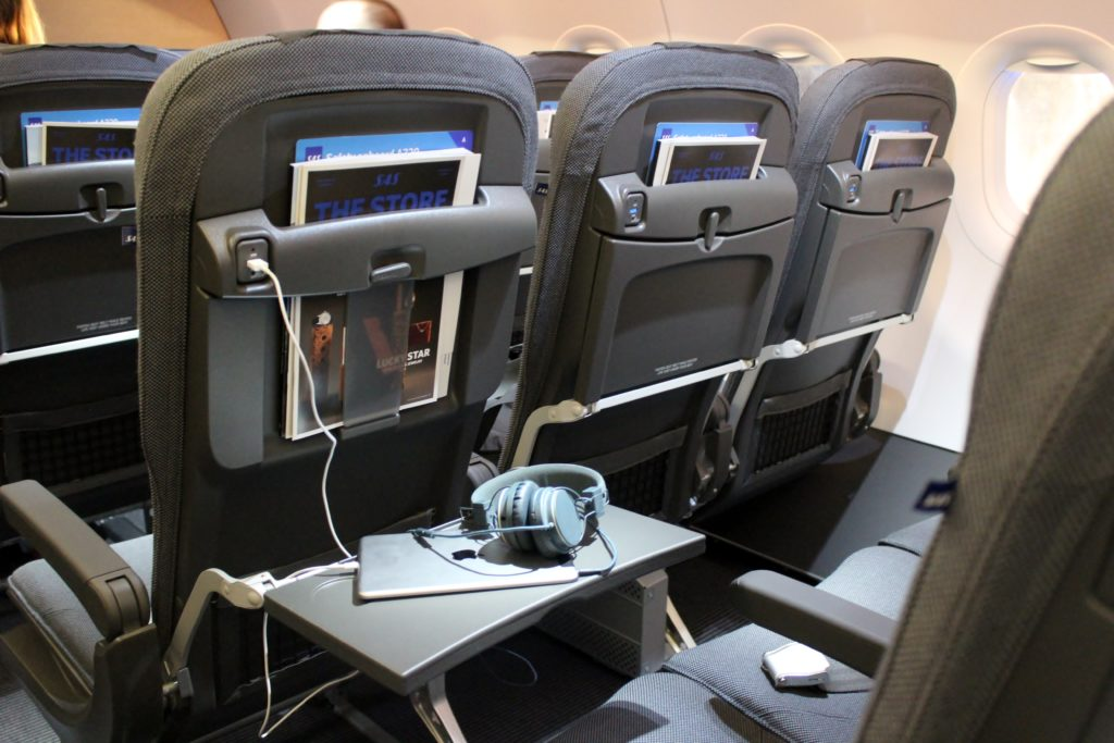 SAS new shorthaul seats and cabin, Airbus A320NEO