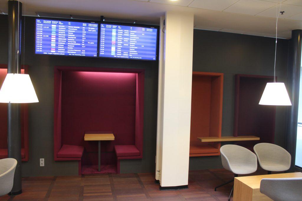Servisair Aspire Lounge Copenhagen Kastrup seating areas
