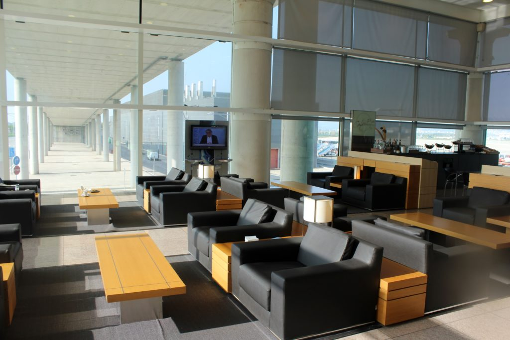 Air Europa Business Class Airbus A330 Barcelona-Madrid lounge