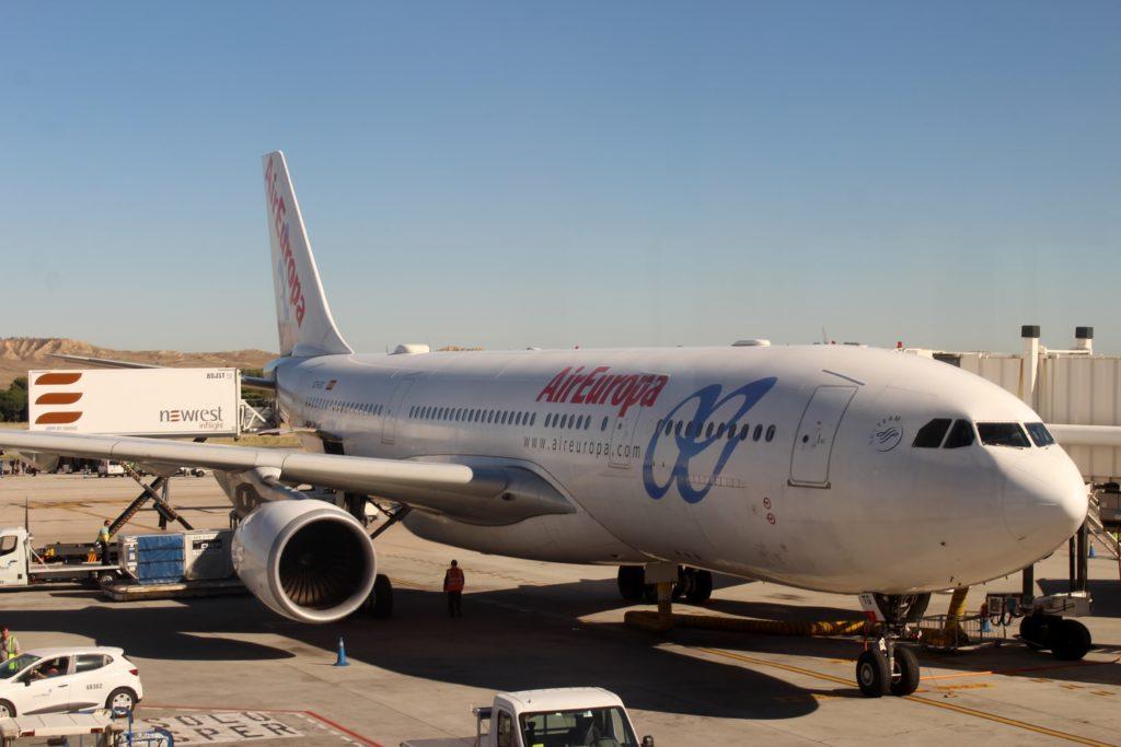 Air Europa Business Class Airbus A330 Barcelona-Madrid