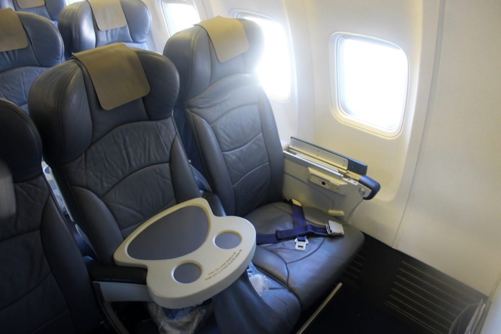 Air Europa Business Class Madrid-Amsterdam cabin and seat
