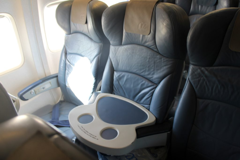 Air Europa Business Class Madrid-Amsterdam seat