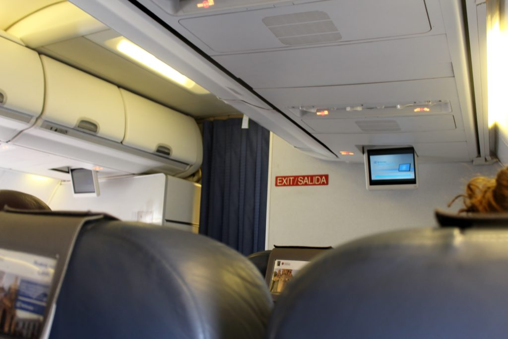Air Europa Business Class Madrid-Amsterdam cabin